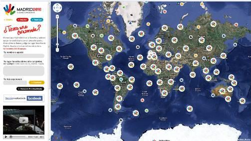 Madrid 2016: mapa de la web Tengounacorazonada.com
