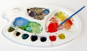 artista pintor paleta colores